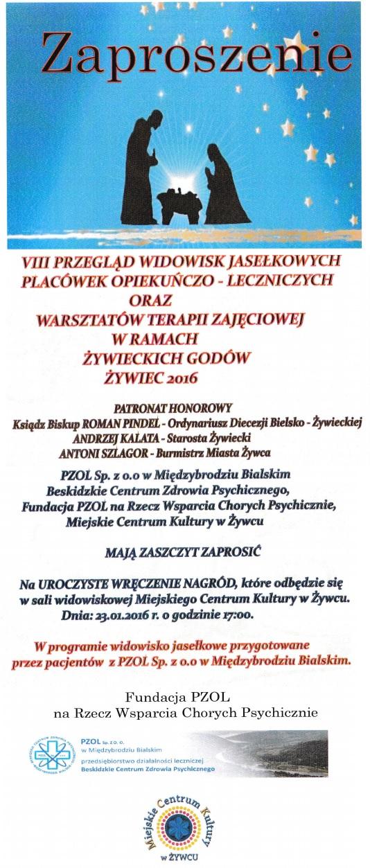 jasełka zaproszenie 2016